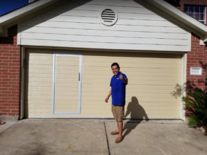 Residential Garage Door with Pass Door - Houston -